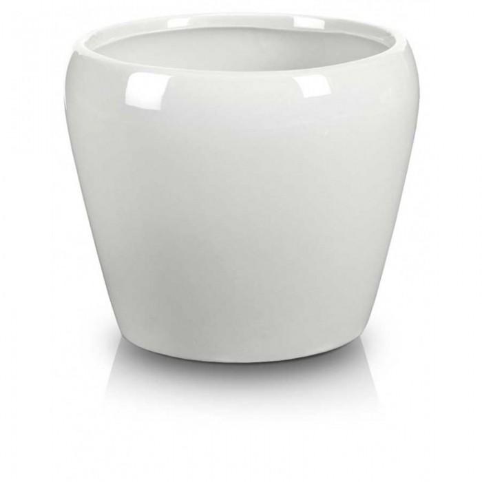 Biała Doniczka Ceramiczna Barcelona Okrągła